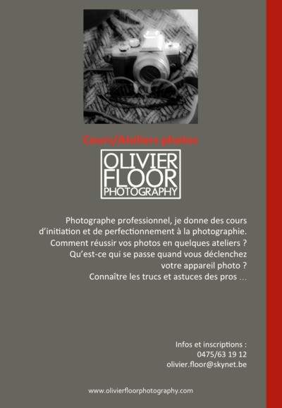 Olivier Floor Photography - Cours, Ateliers et Workshops Photo