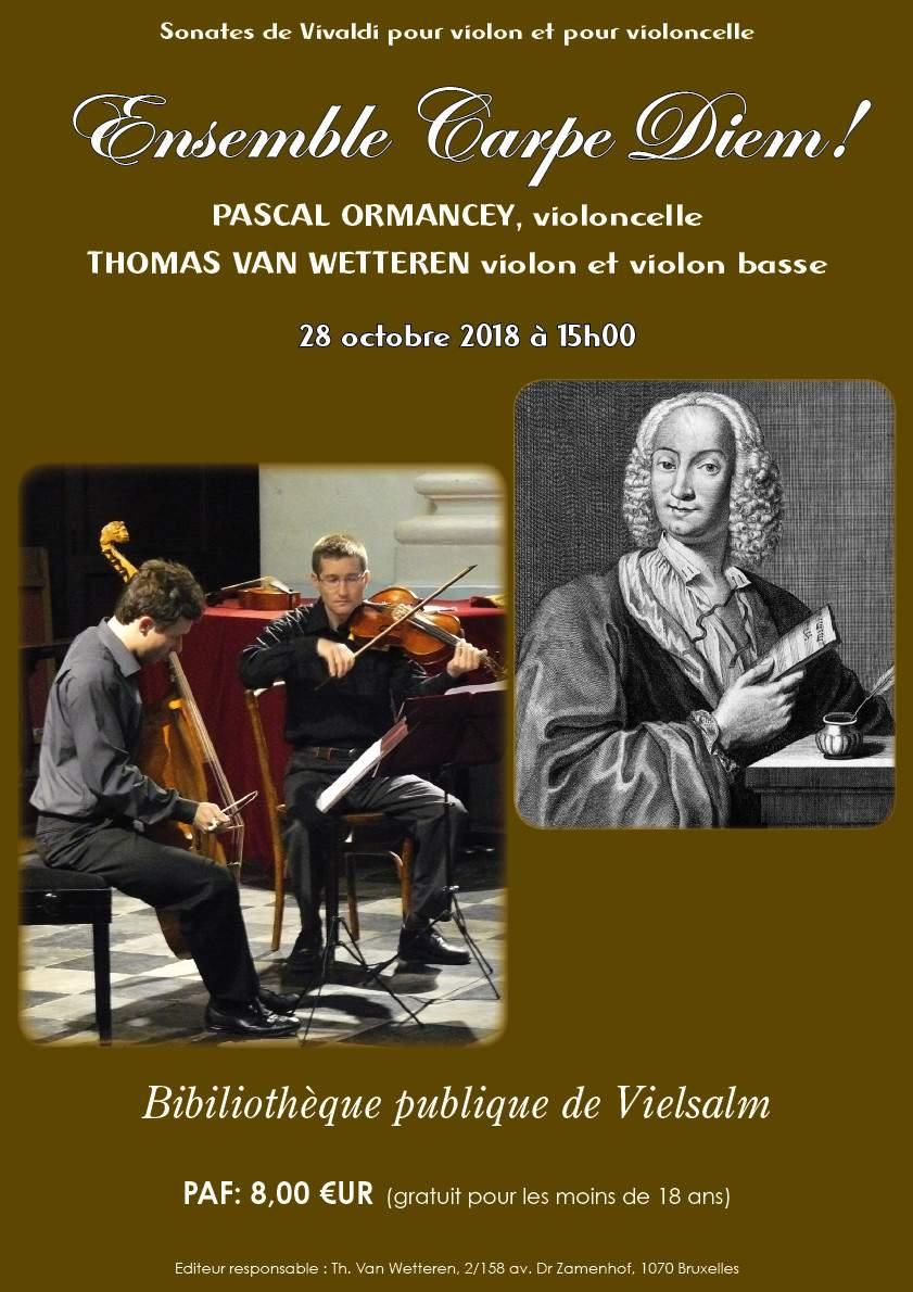 Sonates de Vivaldi pour violon et violoncelle