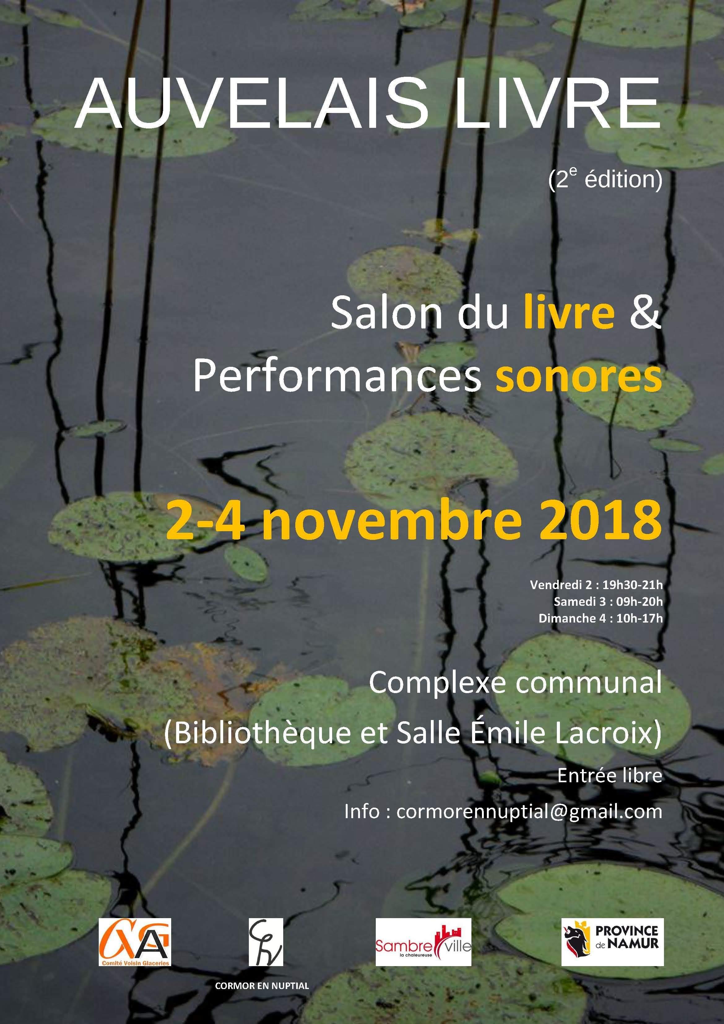 Auvelais livre 2018 - Salon du livre / Performances sonores
