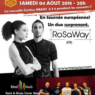 Rosaway(FR)+Mad Souls(Rock Cover) 4/8/18 Temple Bar Liège