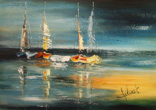 Expo peinture d andr wilmet vues sur mer uccle for Paysagiste anglais celebre