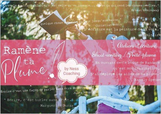 Ateliers d'écriture Ramène ta plume Module Septembre/Octobre