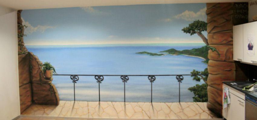 B AERO   Peinture Décorative : Paysage Trompe L Oeil Et Lettrages GRAFFITI
