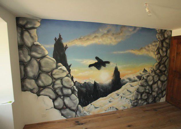 BAero  Peinture Dcorative  Paysage Trompe L Oeil Et Lettrages