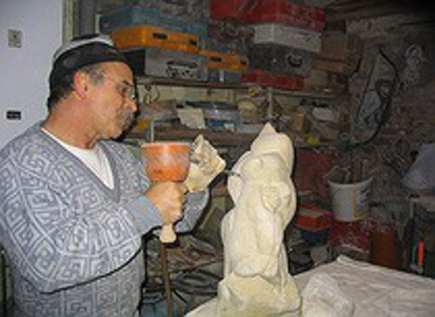 Giovanni Giambra - stage atelier sculpture bois pierre platre