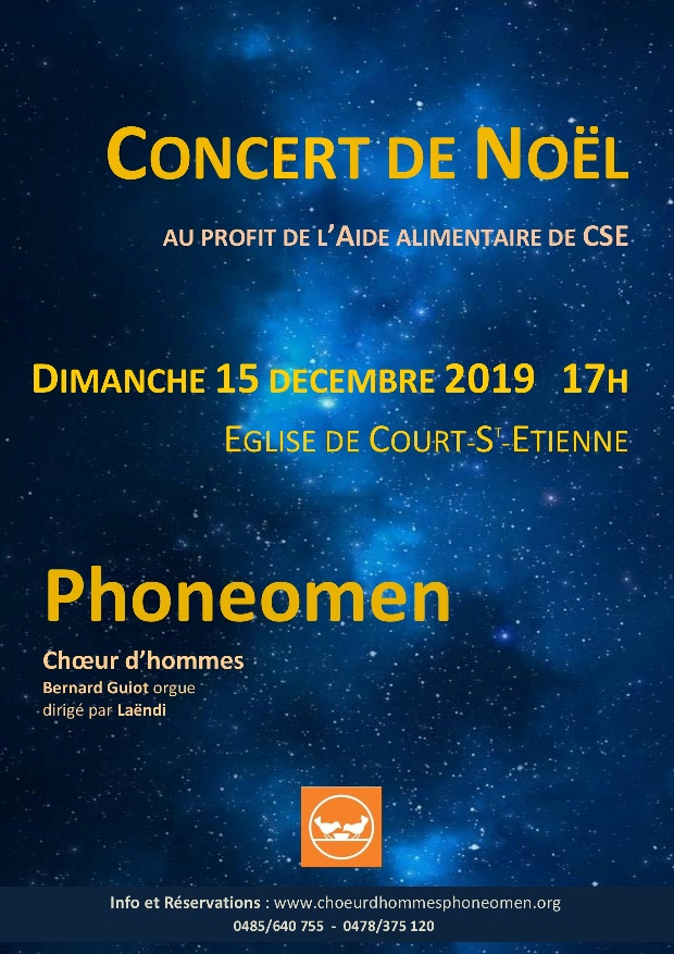 Concert de Noël Phoneomen choeur d'hommes