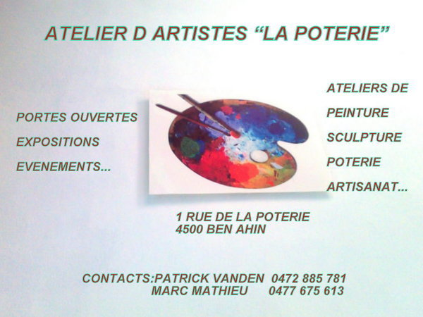 Portes ouvertes l 39 atelier d 39 artistes la poterie ben - Atelier chardon savard portes ouvertes ...