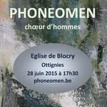 Phoneomen choeur d'hommes en Concert
