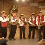 Orchestre de jazz. La planche à jazz.New-Orleans dixie band.